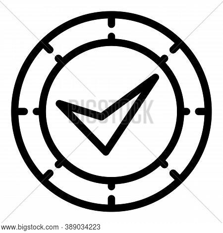 Approved Reliability Icon. Outline Approved Reliability Vector Icon For Web Design Isolated On White