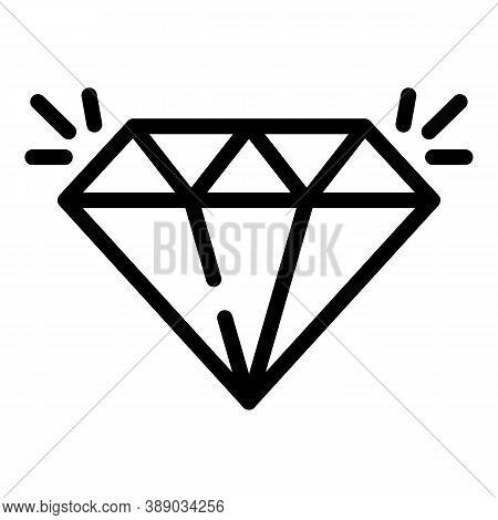 Diamond Reliability Icon. Outline Diamond Reliability Vector Icon For Web Design Isolated On White B