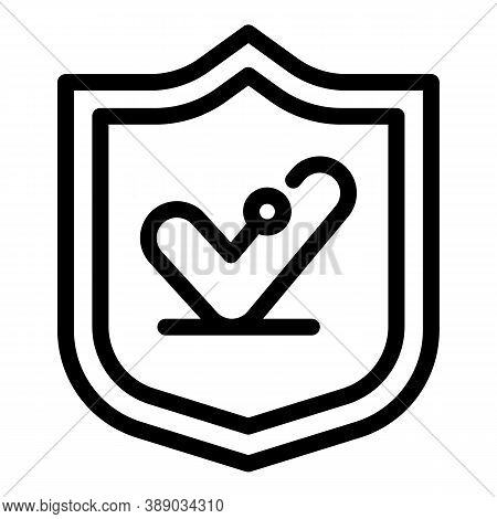 Shield Reliability Icon. Outline Shield Reliability Vector Icon For Web Design Isolated On White Bac