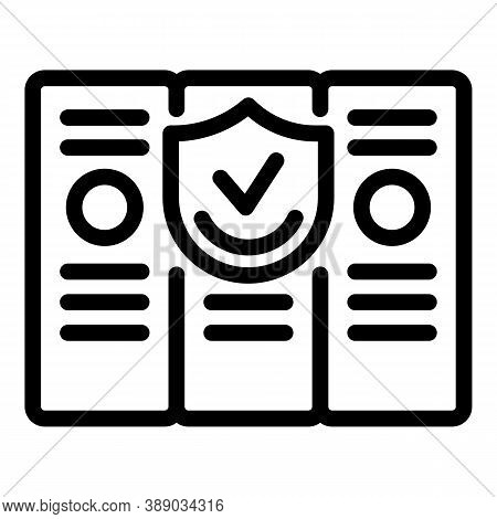 Folders Reliability Icon. Outline Folders Reliability Vector Icon For Web Design Isolated On White B