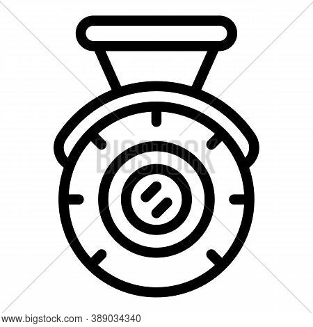Medal Reliability Icon. Outline Medal Reliability Vector Icon For Web Design Isolated On White Backg