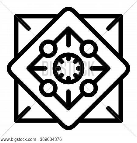 Gem Amulet Icon. Outline Gem Amulet Vector Icon For Web Design Isolated On White Background