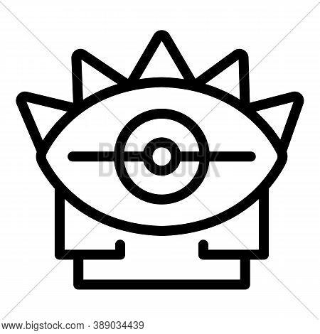 Magic Eye Amulet Icon. Outline Magic Eye Amulet Vector Icon For Web Design Isolated On White Backgro