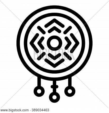Charm Amulet Icon. Outline Charm Amulet Vector Icon For Web Design Isolated On White Background