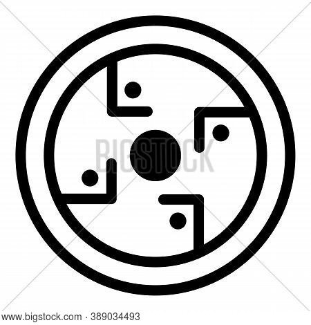 American Protection Amulet Icon. Outline American Protection Amulet Vector Icon For Web Design Isola