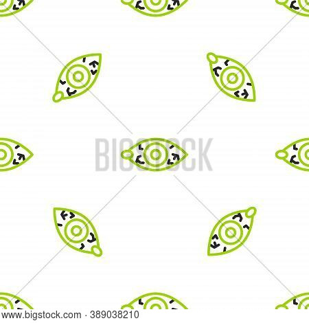 Line Reddish Eye Due To Viral, Bacterial Or Allergic Conjunctivitis Icon Isolated Seamless Pattern O