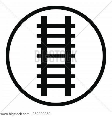 Ladder Icon, Ladder Symbol, Logo. Ladder Vector Illustration / Railway Icon, Rail Symbol, Logo. Rail
