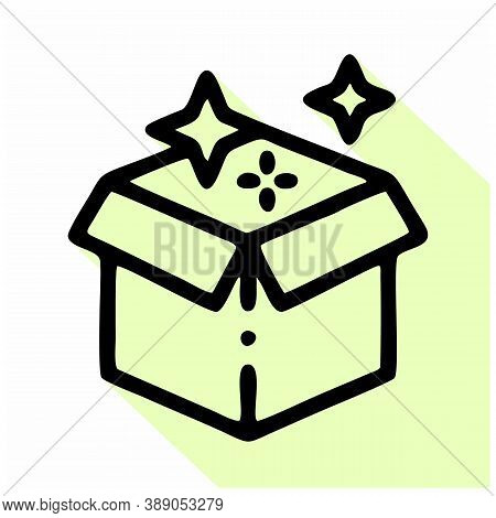 Magic Box Icon Isolated On White Background From Magic Collection. Magic Box Icon Trendy And Modern