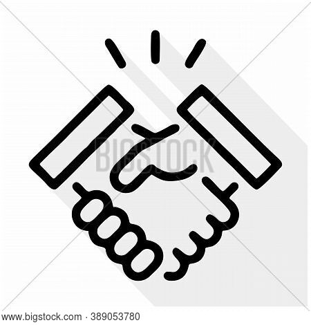Handshake Icon Isolated On White Background From Business Collection. Handshake Icon Trendy And Mode
