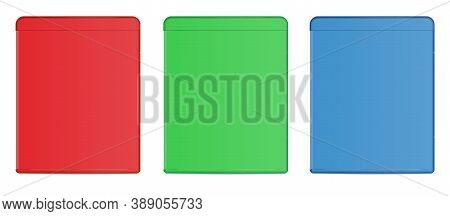 Blank Blu-ray Case Rgb. Illustration 3d Rendering. Isolated On White Background.