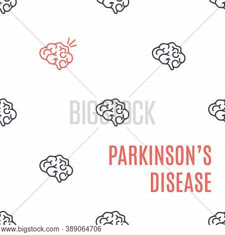 Parkinson Disease Medical Poster With Brain Pattern