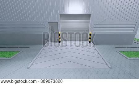 Roller Door Or Roller Shutter. Also Called Security Door Or Security Shutter. For Protect Residentia