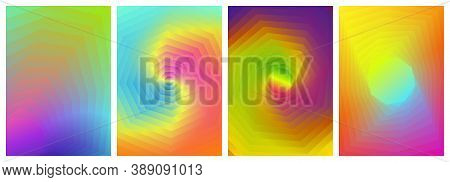 Background Colorful Design Collection, Large Octagon Shapes Blend To Small Octagon Shapes. Templates