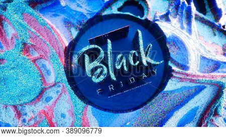 Black Friday Digital Background Made From Glowing Particles. Black Friday Banner Or Flyer Design. 3d