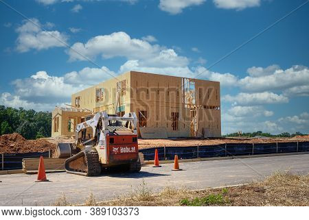 Cumming, Georgia - September 20, 2020: The Housing Market Is Facing A New Boom In Growth Thanks To T