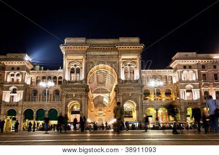 Vittorio Emanuele II Gallery at Piazza del Duomo in Milan. Lombardy, Italy.