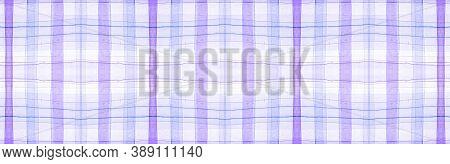White Flannel Checks. Watercolor Plaid Texture. Modern Textured Ornament. Seamless Flannel Checks. G