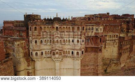 Detail Of The Mehrangarh Fort, In Jodhpur, Rajasthan, India.