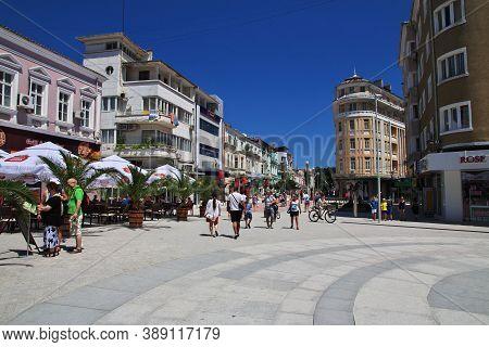 Varna, Bulgaria - 16 Jul 2015: The Vintage Street, Varna, Black Sea Coast, Bulgaria