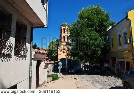 Plovdiv, Bulgaria - 12 Jul 2015: The Vintage Church In Plovdiv, Bulgaria
