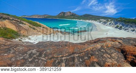 Coastal Beauty Of Thistle Cove In Western Australia. White Sand And Turquoise Water