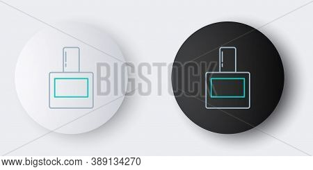 Line Aftershave Icon Isolated On Grey Background. Cologne Spray Icon. Male Perfume Bottle. Colorful