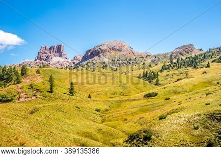 At The Path To Averau Peak In Dolomites - South Tyrol, Italy