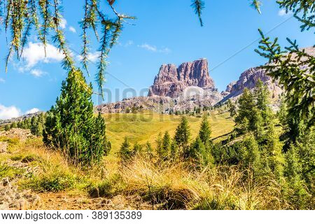 View At The Averau Peak In Dolomites - South Tyrol,italy