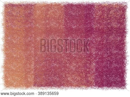 Shaggy Woven Rectangular Mat, Carpet, Rug In Violet, Brown Colors Isolated On White Background