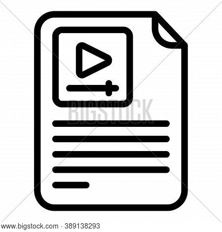 Stream Video Instruction Icon. Outline Stream Video Instruction Vector Icon For Web Design Isolated