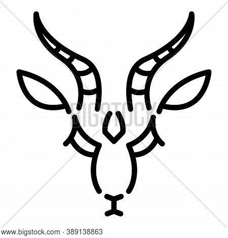 Horn Gazelle Icon. Outline Horn Gazelle Vector Icon For Web Design Isolated On White Background
