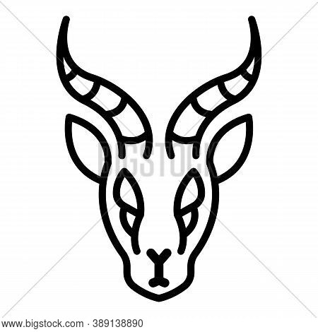 Head Gazelle Icon. Outline Head Gazelle Vector Icon For Web Design Isolated On White Background