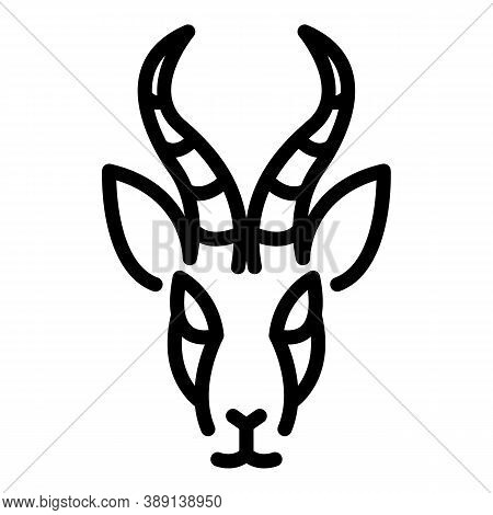 Fast Gazelle Icon. Outline Fast Gazelle Vector Icon For Web Design Isolated On White Background