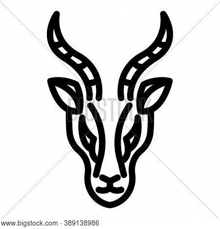 Impala Gazelle Icon. Outline Impala Gazelle Vector Icon For Web Design Isolated On White Background