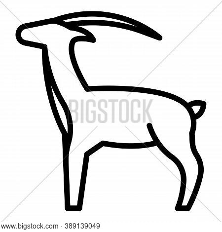 Nature Gazelle Icon. Outline Nature Gazelle Vector Icon For Web Design Isolated On White Background