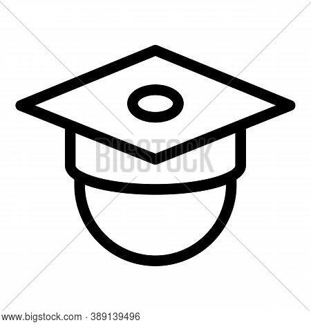 Celebration Graduation Hat Icon. Outline Celebration Graduation Hat Vector Icon For Web Design Isola