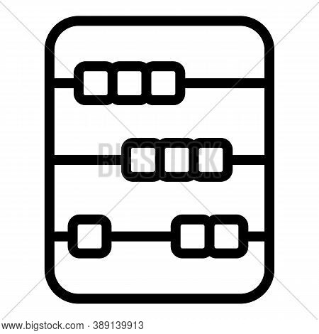 Math Abacus Icon. Outline Math Abacus Vector Icon For Web Design Isolated On White Background