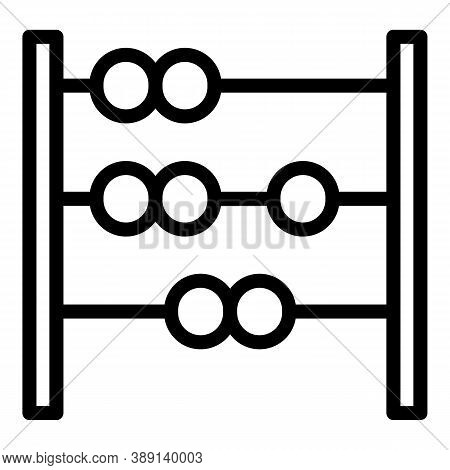 Beads Abacus Icon. Outline Beads Abacus Vector Icon For Web Design Isolated On White Background