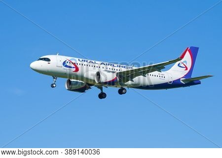 Saint Petersburg, Russia - August 08, 2020: Airplane Airbus A320neo (vp-bry) Of The Airline