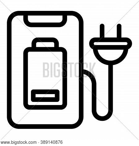 Charger Device Icon. Outline Charger Device Vector Icon For Web Design Isolated On White Background