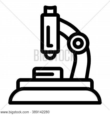 Microscope Probiotics Icon. Outline Microscope Probiotics Vector Icon For Web Design Isolated On Whi
