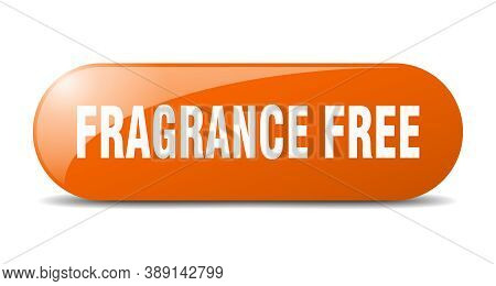 Fragrance Free Button. Rounded Glass Sign. Sticker. Banner