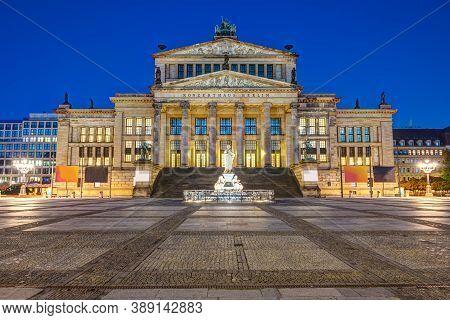 The Konzerthaus Berlin At The Gendarmenmarkt At Night