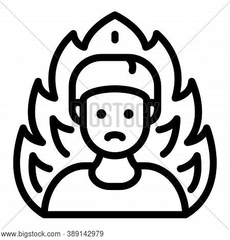 Fireman Product Review Icon. Outline Fireman Product Review Vector Icon For Web Design Isolated On W