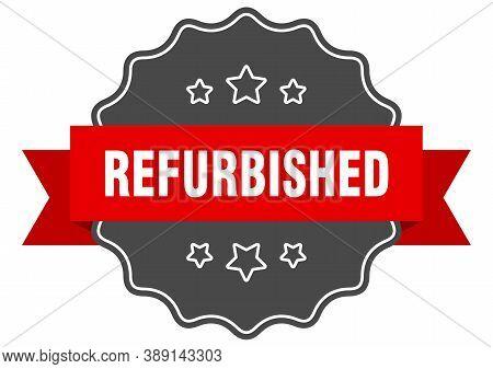 Refurbished Label. Refurbished Isolated Seal. Retro Sticker Sign