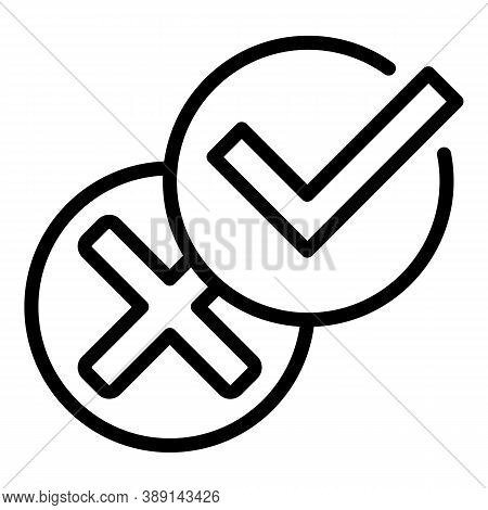 Icon Approved Product Review Icon. Outline Icon Approved Product Review Vector Icon For Web Design I