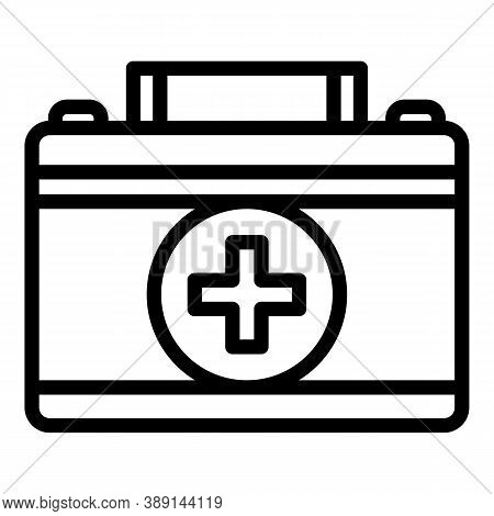 Rescue First Aid Kit Icon. Outline Rescue First Aid Kit Vector Icon For Web Design Isolated On White
