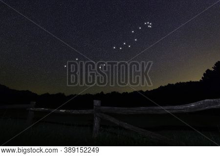 Hydra Star Constellation, Night Sky, Cluster Of Stars, Deep Space, Sea Serpentconstellation