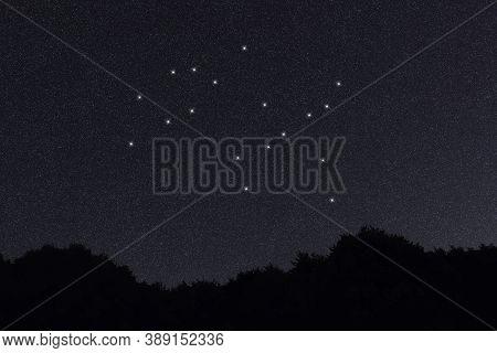 Gemini Star Constellation, Night Sky, Cluster Of Stars, Deep Space, Castor & Pollux, Twinsconstella