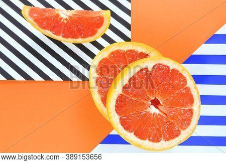 Antioxidant, Background, Circle, Citrus, Closeup, Cut, Diet, Food, Fresh, Fresh Slices Of Red Grapef